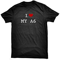 I LOVE MY A6 T-SHIRT, black, by Bertie, free worldwide shipping