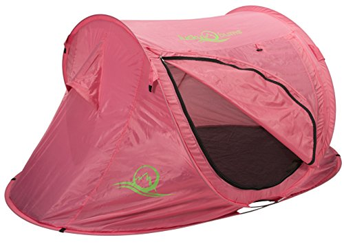 Lucky Bums Quick and Portable Camp Tent, Pink