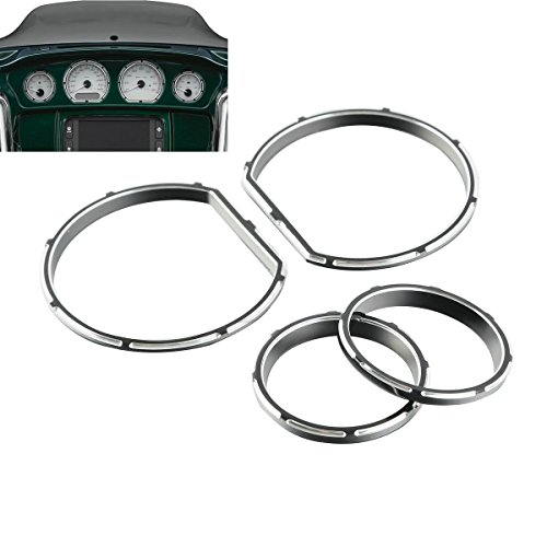 Bagger Gauges - Burst Gauge Bezel Kit For Harley Road Glide FLTRX 15-17 Street Glide FLHX 14-17