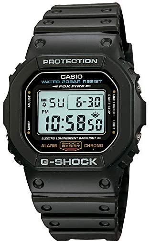 Casio Men's G-Shock Quartz Watch with Resin Strap, Black, 20 (Model: DW5600E-1V) WeeklyReviewer
