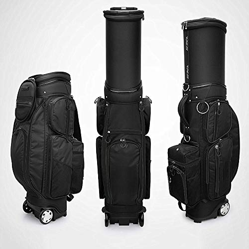 Cart Golf Bag, Independent Thermostat, 5 Levers, Multi-Function, Telescopic Ball Cap, Ultra Light Golf Bag,Black