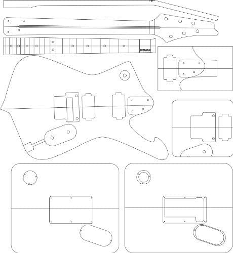Iceman Electric Guitar Layout Template