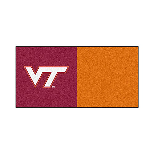 FANMATS NCAA Virginia Tech Hokies Nylon Face Team Carpet Tiles by Fanmats