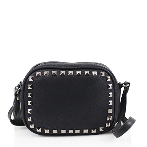 BLACK Handbag Cross Bag CROSS Body LeahWard Women Size For Studded BODY Women's Fancy BAG Small STUDDED Xq00Pw8xU