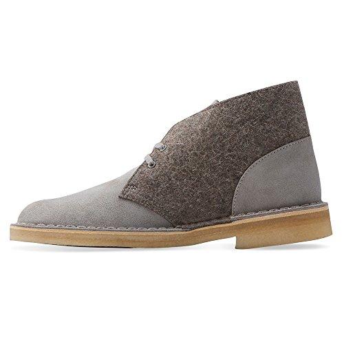 Grey Boot Mens Desert Felt Clarks q05t1tw