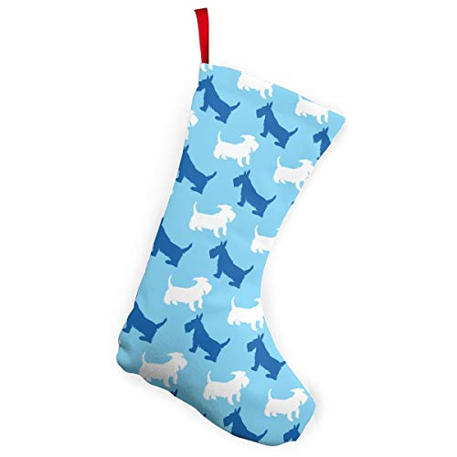 - Funny Scottish Terrier Dogs Christmas Stocking Santa Claus Gift Party Accessory Xmas Tree Decor Festival Party Ornament