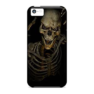 Anglams Case Cover For Iphone 5c - Retailer Packaging 3d Skeleton Protective Case