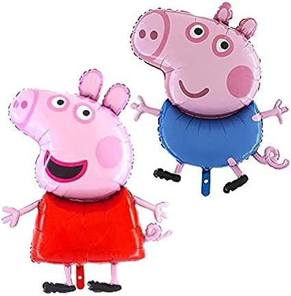 Amazon.com: Peppa and George Pig - Globos de papel (2 ...