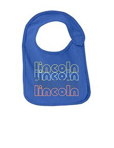 Lincoln Nebraska Retro Funny Infant Jersey Bib Royal One Size ()