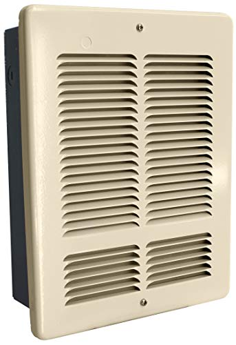 King Electric W2410I-T-A 1000-500-Watt 240V Wall Heater Interior & Grill w/SP Thermostat, No Can, Almond
