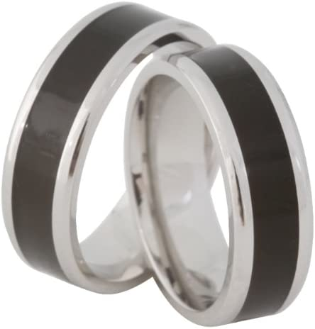 Jewelery Codex His /& Hers Wedding Band Wedding Rings Sets WITH FREE ENGARVING Stainless Steel