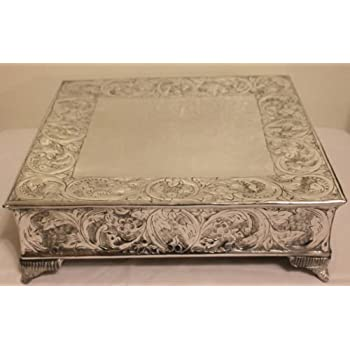 18 inch square wedding cake stand 18 inch silver square wedding cake stand 10076