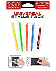 Subsonic - Pack de 5 stylets - Universal Stylus pack pour consoles Nintendo New 2DS XL, New 3DS XL, 3DS, 2DS, DS, Nintendo Switch, Smartphone, tablette, Iphone et Ipad.
