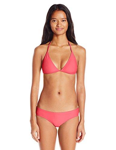 Volcom Women's Simply Solid Cheeky Bikini Bottom, Neon Pink, Large
