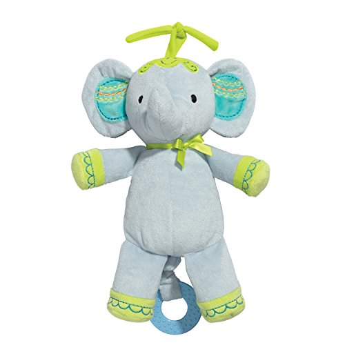 C R  Gibson Little Fair Plush Musical Pull Toy  By Baby Dumpling   Elephant