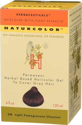 Naturcolor 5M Light Pomegranate Chestnut Hair Dyes, 4 Ounce