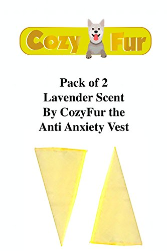 - REFILL For CozyFur Pack Of 2 Essential Oil Crystal Aromatherapy Scent Relaxing & Calming Smell Stress Aggression Fear FireWorks Storm Thunder Separation Triangle Dog Anxiety Shirt (Lavender)