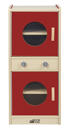 ECR4Kids Colorful Essentials Activity Washer and Dryer Playset, Red and Maple by ECR4Kids