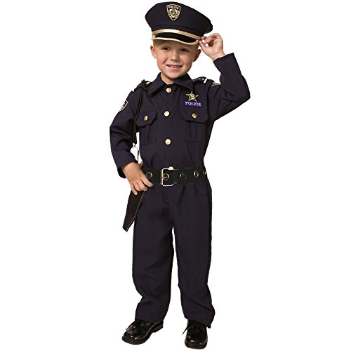 Deluxe Police Dress Up Costume Set - Small 4-6 (Halloween Costume Winners)