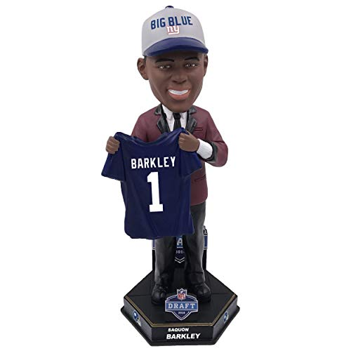 Forever Collectibles NFL New York Giants Mens New York Giants Saquon Barkley Bobble 2018 NFL Draft Pick #2New York Giants Saquon Barkley Bobble 2018 NFL Draft Pick #2, Team Colors, One Size