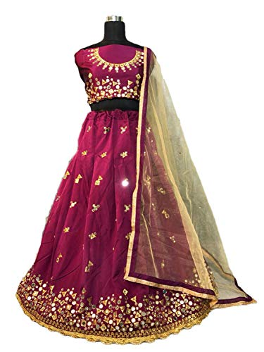 Indian Designer Collection Embroidery Work Bridal Indian Traditional Designer Lehenga Choli with Dupatta A372 by Indian Designer Collection
