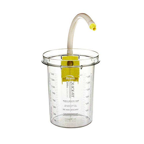 Bemis Healthcare 1500 10 Bemis Healthcare Quality Medical Products 1500CC Reusable Outer Hospital Grade Suction Canister, Yellow Bracket - Product Number : #1500 10