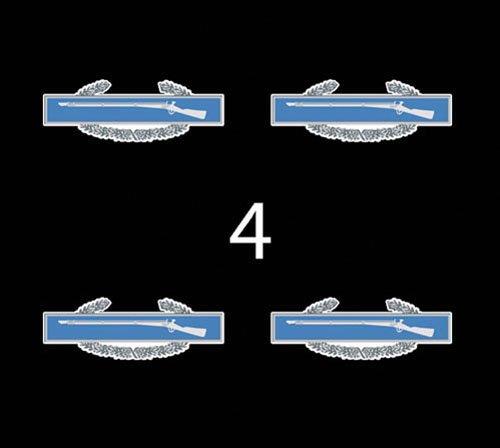 "US Army Badge Combat Infantryman Badge (CIB) 1st Award 3"" (4)Four Decal Sticker Lot"