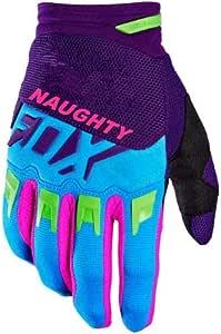 Negro-Blanco M DJLHNNew Naughty Fox Pink Blue Gloves Moto Riding Dirt Bike Mountain Ciclismo Motocicleta DIRTPAW Race Guantes