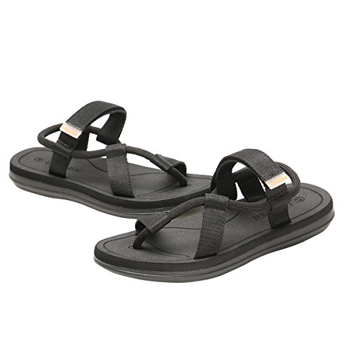 Cior Heren En Dames Handgemaakte Flip-flop Mode Strand Slipper Indoor En Outdoor Klassieke String Sandalen Zwart
