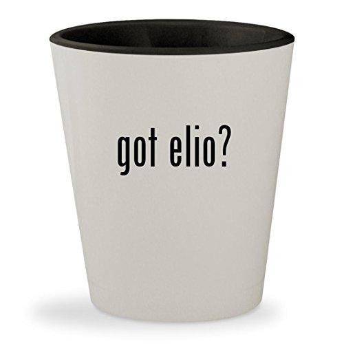 Got Elio    White Outer   Black Inner Ceramic 1 5Oz Shot Glass