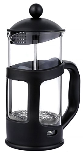 French Press Coffee & Tea Maker - with Glass Carafe - Heat Resistant Borosilicate Glass - 8 Cup, (1-Liter, 34 oz.)