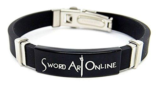 [Relaxcos Sword Art Online Black Bracelet Cosplay Costume] (Costumes Jewelry Online)