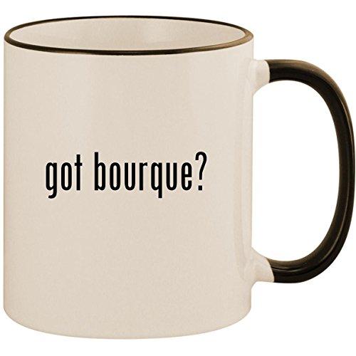 got bourque? - 11oz Ceramic Colored Handle & Rim Coffee Mug Cup, Black