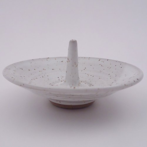 Speckled Pottery (Handmade Pottery Jewelry Ring Holder in Speckled White)