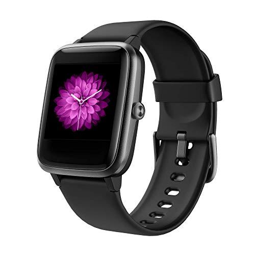 GRDE Reloj Inteligente Hombre Mujer, Smartwatch con Monitoreo del (Pulsometro/Cardiaco/Sueno) Reloj 5ATM Impermeable con Podometro Caloria GPS, Relojes con Despertador y Cronometro para iPhone Xiaomi