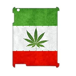 3D [National Flags] Iran Weeds Flag Cases for IPad 2,3,4, IPad 2,3,4 Case {White} by ruishername