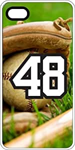 Baseball Sports Fan Player Number 48 White Rubber Decorative iPhone 6 Case by lolosakes