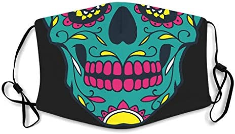 Skull Printed Facial Anti-Spitting Windproof Mouth Shield for Outdoor Activities Theme