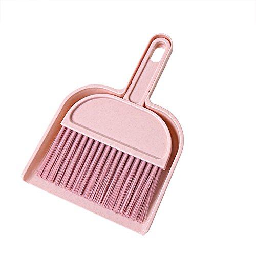 - MODAO Superb Creative Mini Sweep Sweeper Home Sweep Office Desk Sweep Mini Desktop Sweep Cleaning Brush Small Broom Dustpan Set (Pink)