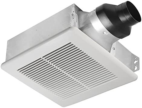 Tech Drive Very-Quiet 80 CFM, 1.5 Sone No Attic access Needed Installation Bathroom Ventilation and Exhaust Fan With LED light 4000K 600LM 80CFM ,Ceiling Mounted Fan,Easy to Install