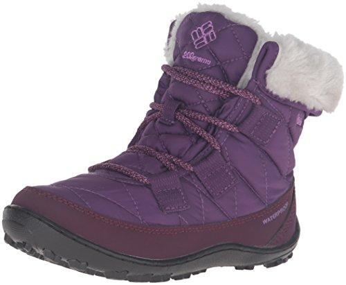 Columbia Girls' Youth Minx Shorty Omni-Heat Waterproof-K Snow Boot, Iris Glow/Northern Lights, 6 M US Big Kid -