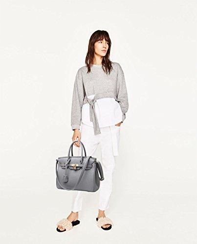 bolsa moda messenger bolsas Tisdaini de de Mujer bolso mano hombro mano PU de bag la bag marca Gris Cuero qwwRvPxt