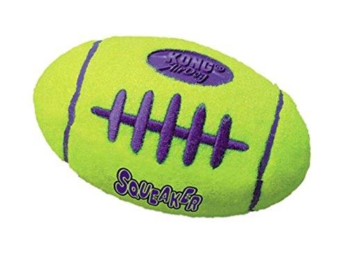 KONG Air Dog Squeaker Football Dog Toy, Small, (Kong Dog Toys For Small Breeds)