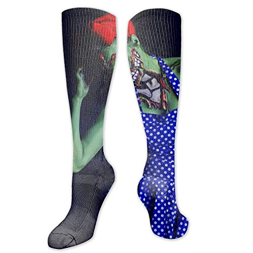 Compression Socks for Women and Men Halloween Makeup Zombie Compression Stockings Best for Running, Crossfit, Travel, Nurse, Maternity Pregnancy -