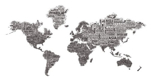 1 world text map wall decal black on white 78 x 42 buy 1 world text map wall decal black on white 78 x 42 buy online in uae kitchen products in the uae see prices reviews and free delivery in gumiabroncs Images