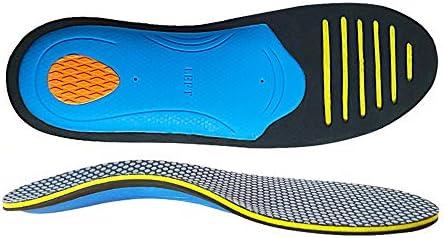 CosyInSofa Orthetische Einlegesohlen in voller Länge, hervorragende Polsterung für flache Füße, orthopädische Funktionsschaumpolster für Frauen und Männer (S:36/41EU, Schwarz)