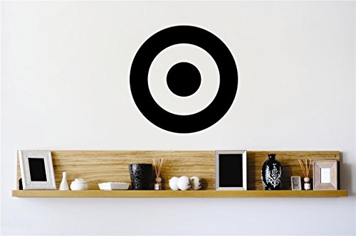 Target Decals - Design with Vinyl Zzz 3953 Bullseye Target Shot Aim Circle Stylish Vinyl Wall Decal Home Decoration Picture Art, 18-Inch x 18-Inch, Black