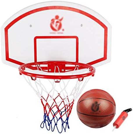 壁掛けバスケットボールフープ、バスケットボールのリング、ホーム子供のバスケットボールスタンド、親子ゲームをぶら下げ、標準のバスケットボールスタンドを投げることができます (Color : White, Size : 69*45cm)