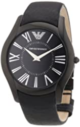 Emporio Armani Men's AR2059 Sportivo Black Dial and Strap Watch
