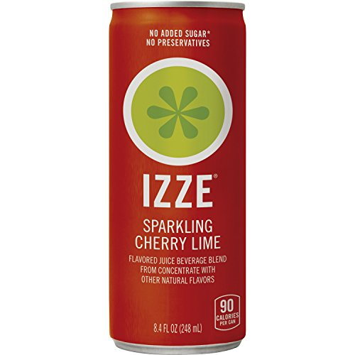 IZZE Cherry Lime Straight Pack 8.4 Ounce 24 Count Cans, 24 Count ()